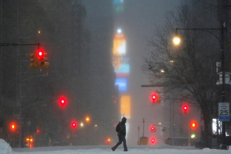Снегопад на Манхэттене