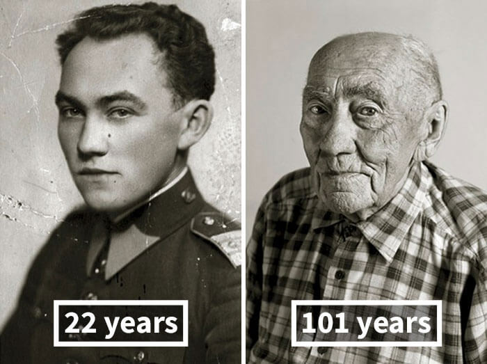 Портрет в молодости и старости