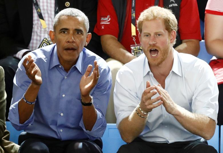 Принц Гарри и бывший президент США Барак Обама