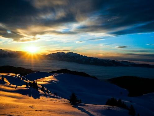 Silvretta MontafonFreschenhaus Sonnenuntergang