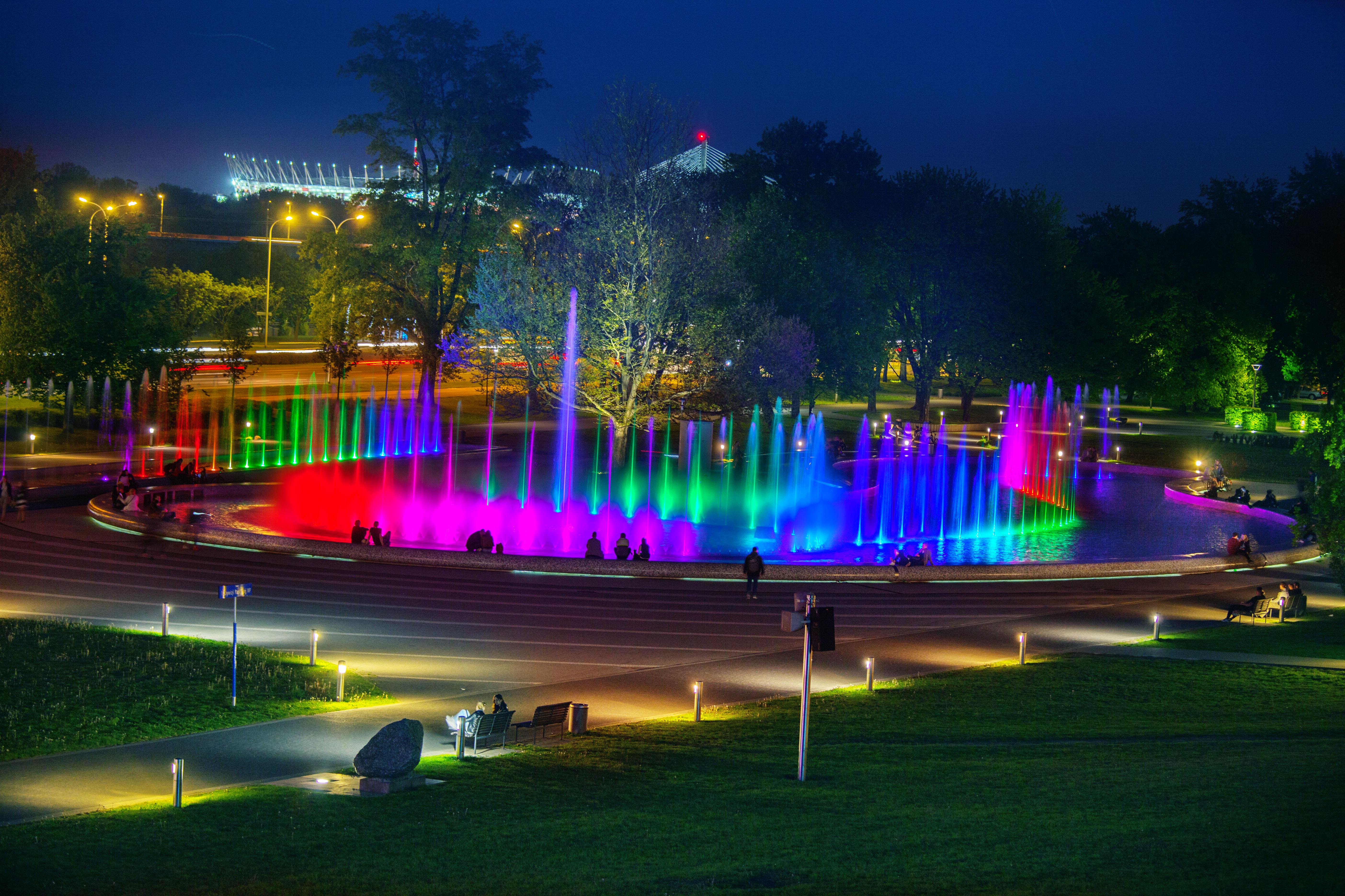 Warszawa fontanny