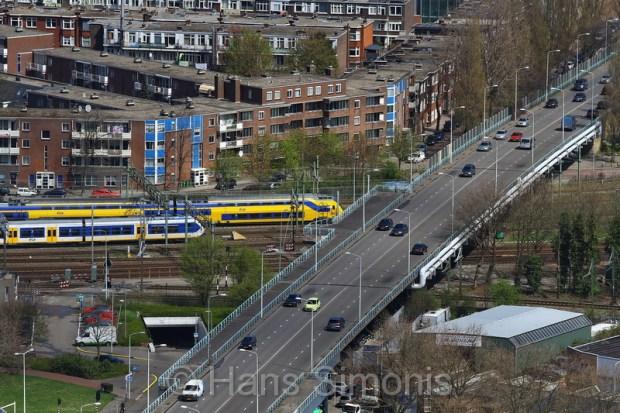 Den Haag vanaf het Strijkijzer.