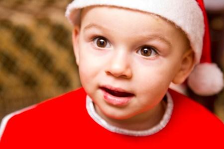 portret copil - de craciun
