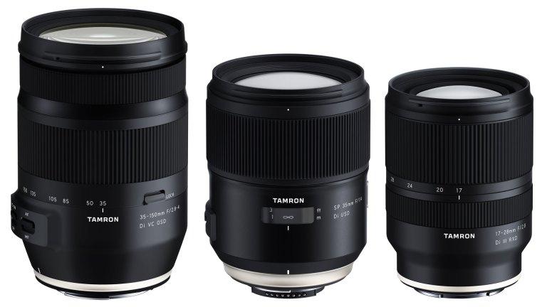 Tamron is developing three new full-frame lenses
