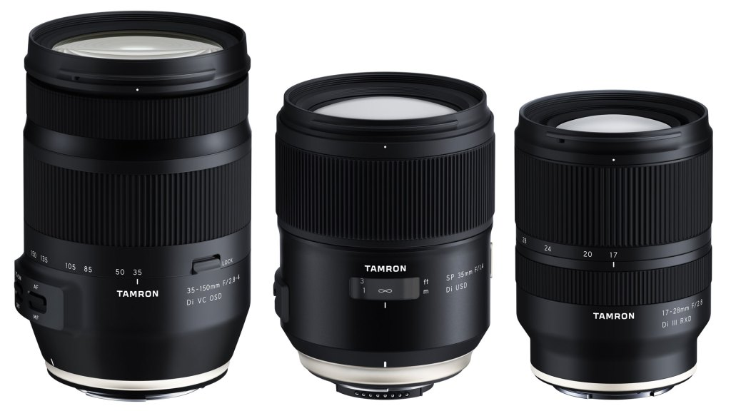 Tamron is developing three new full-frame lenses