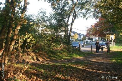Toegang vanaf de Lozermolenstraat in Lozere (Kruishoutem)