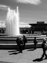 Fountain in front of Amalienborg Castle