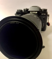 The Landscape Polarizer is mounted on the outside of the Filter Adaptor. The little knob 2 o´clock rotates the filter.