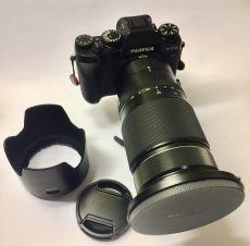 The original lens hood and lens cap is obsolete