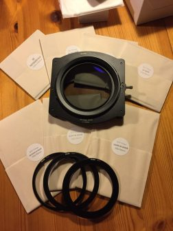 The Grey Filters, Graduated Filters, Filter holder, a Polarizer and Filter Adaptor Rings