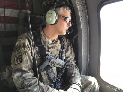 U.S. Army Lt. Gen. Stephen Townsend during a tour north of Baghdad, Iraq, Feb. 8, 2017. Townsend said he believes Islamic State leader Abu Bakr al-Baghdadi is still alive.
