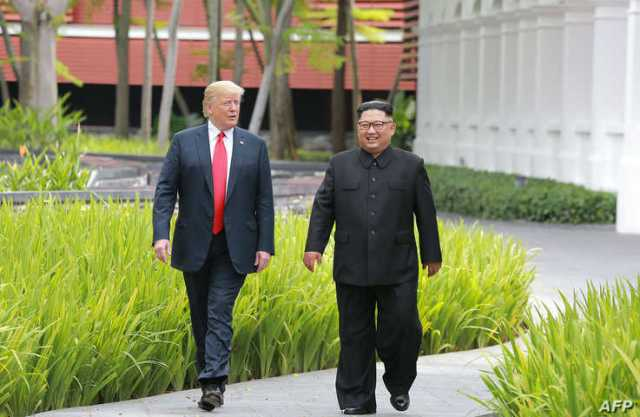 In this picture taken on June 12, 2018 and released from North Korea's official Korean Central News Agency (KCNA) on June 13,…