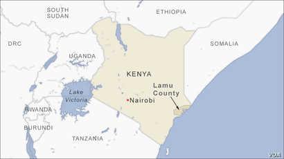 Map of Lamu County Kenya