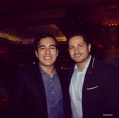 Diego Sandoval with his mentor Ahmad Ashkar at Boston Regional, 2017. (Courtesy - Diego Sandoval)