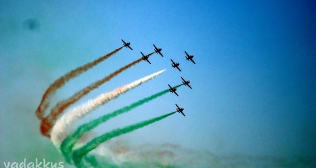 IAF Surya Kiran Air Acrobatics team tricolor contrails Aeroshow 2011