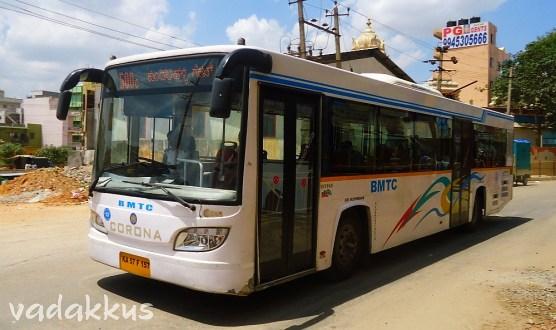 BMTC Corona Skypak City Bus running 500C