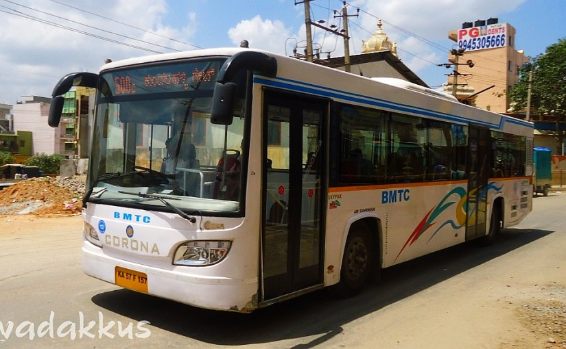 BMTC Corona Skypak City Bus running 500C