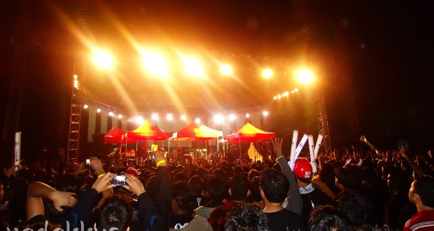 Stage of Children of Bodom Performing Live in Bangalore