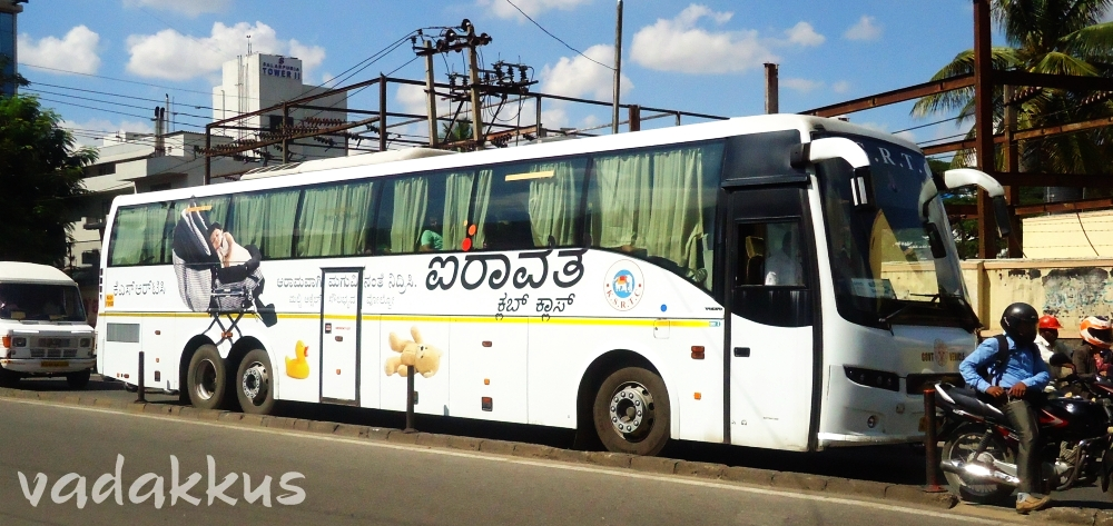 KSRTC Multi Axle Volvo 9400 (Club Class) at Koramangala