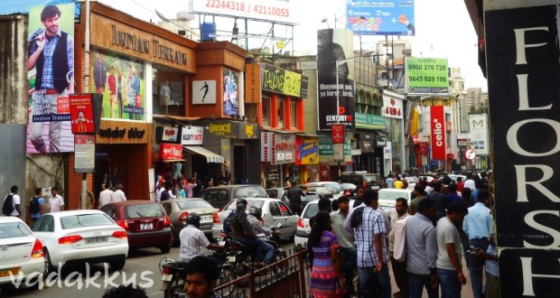 Crowded Bangalore Brigade Road