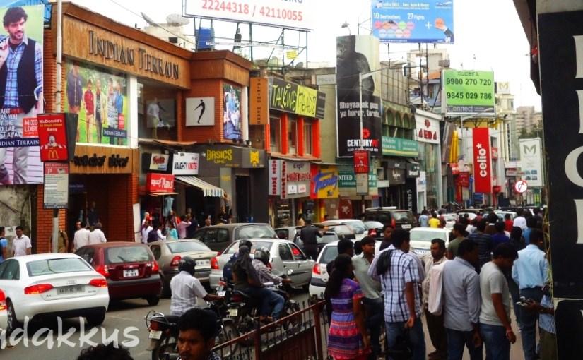 Crowded Bangalore Brigade Road