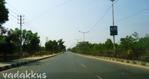 The Inner (Intermediate) Ring Road in Bangalore. Empty on Sunday