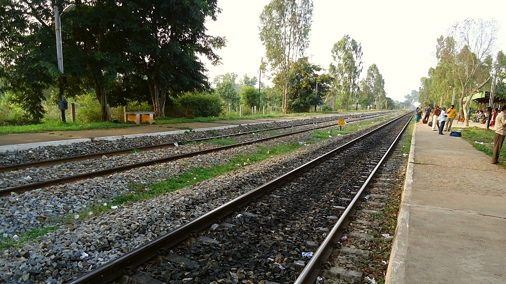 Platforms and Parallel Railway Tracks at Carmelram Railway Station, Sarjapur Road, Bangalore