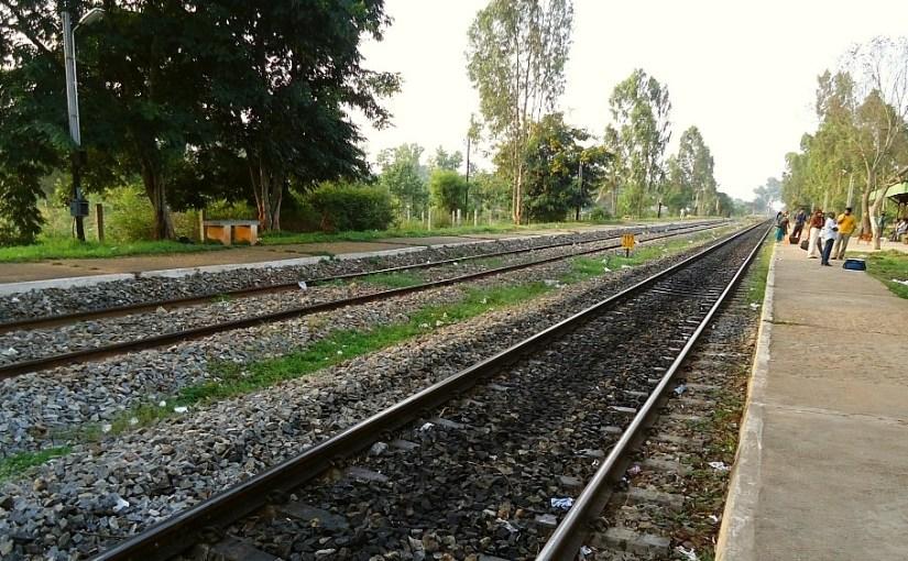 Parallel Tracks at the Quaint Carmelaram Station
