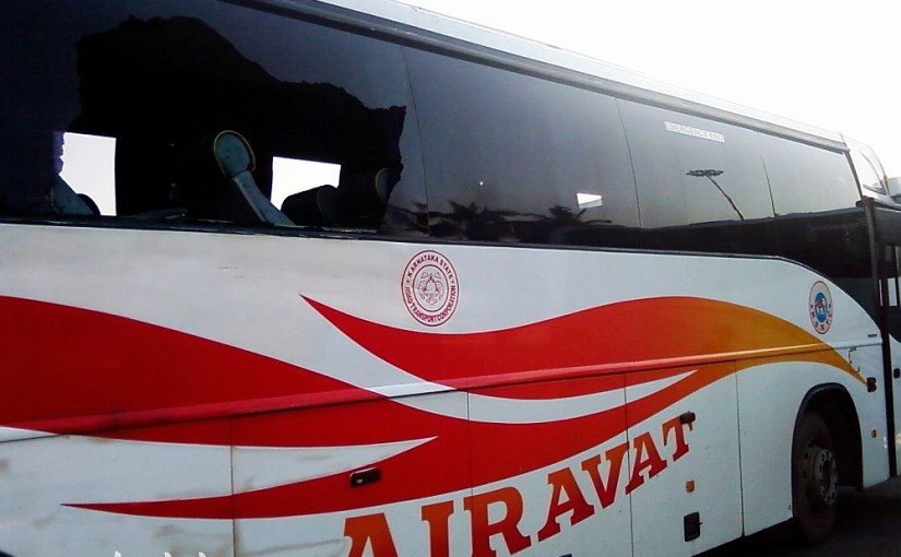 KSRTC Airavata Volvo After a Minor Accident