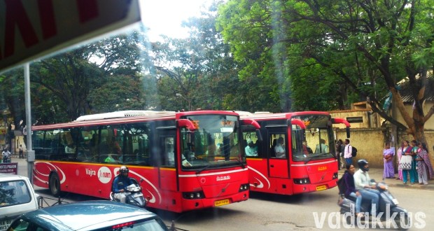 Two BMTC Volvo 335E City Bus Services