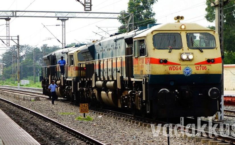 Twin WDG4 Diesel Goods Locomotives India