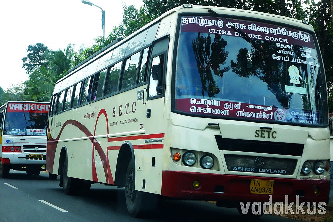 """Ultra Deluxe"" Bus of the State Express Transport Corporation Tamil Nadu"