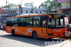 "Kerala KSRTC ""Low Floor"" Volvo at Muvattupuzha"