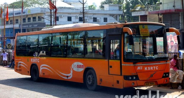 Kerala KSRTC Low Floor AC Volvo bus JNK 27
