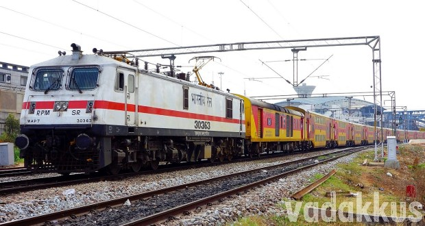 WAP7 30363 with the Bangalore - Chennai AC Double Decker Express