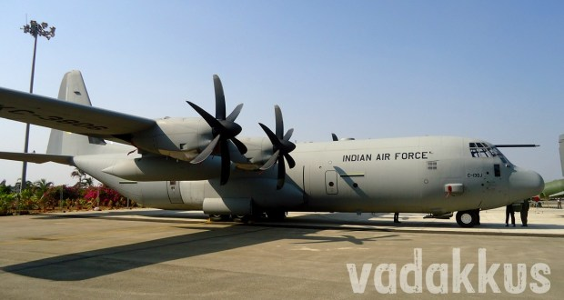 Photo of a C130J Super Hercules Plane of the Indian Air Force