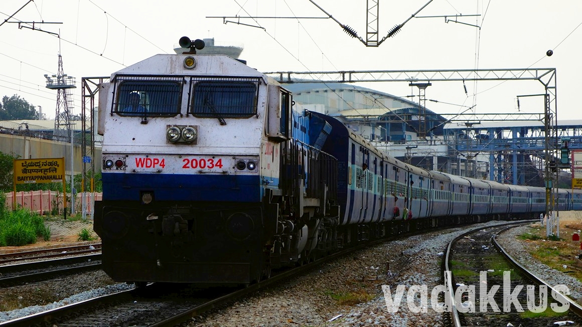 Photo of Prashanti Express headed by KJM WDP4 Diesel Locomotive