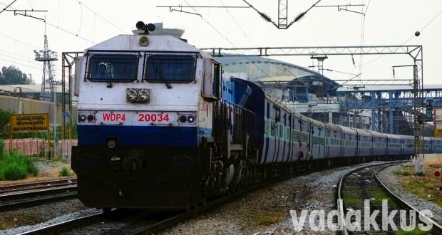Photo of Prashanti Express headed by KJM WDP4 Diesel Locomotive