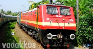 Newly painted electric loco WAP4 22665 in Kerala