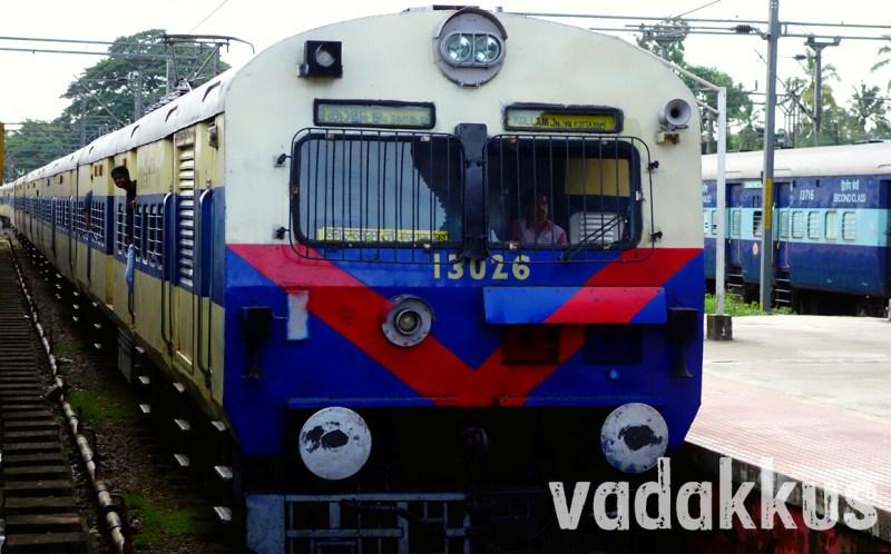 The Ernakulam – Kollam MEMU at Kottayam