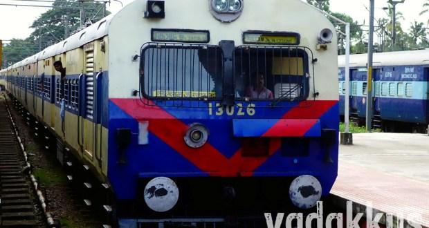 Photo of the MEMU train at Kottayam in Kerala