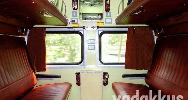 Photo of interiors of the AC First Class Cabin on Indian Railways