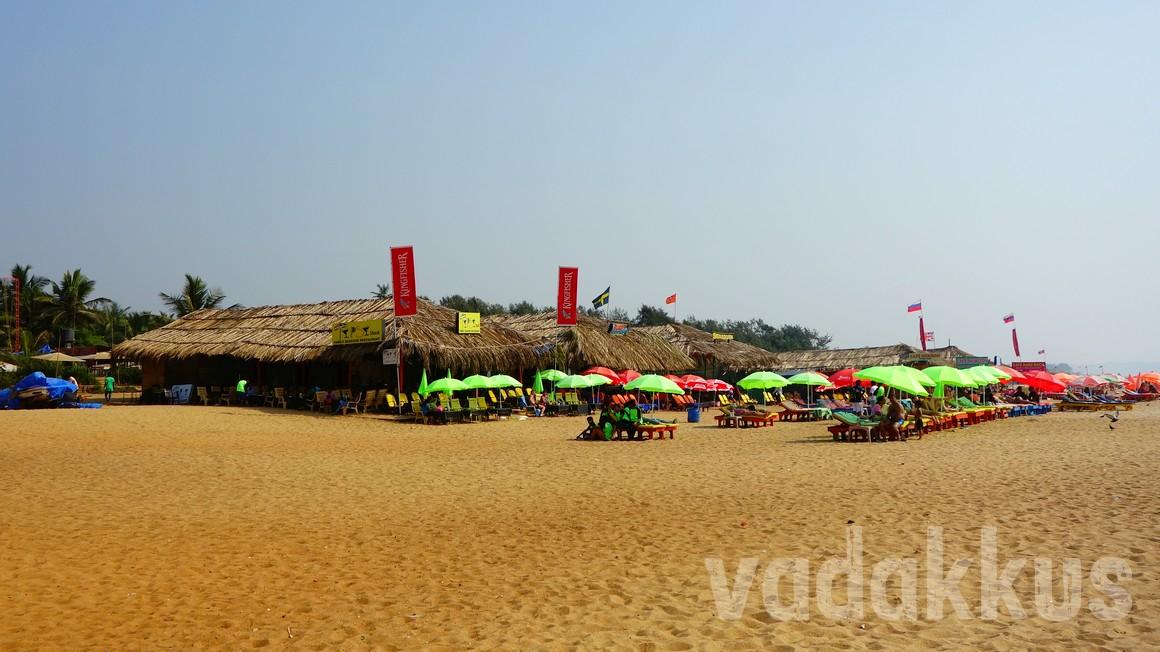 Beach shacks at Calangute beach, Goa
