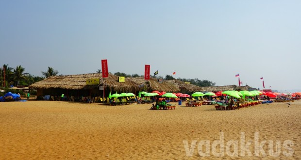 Beach shacks at Calangute beach, Goa