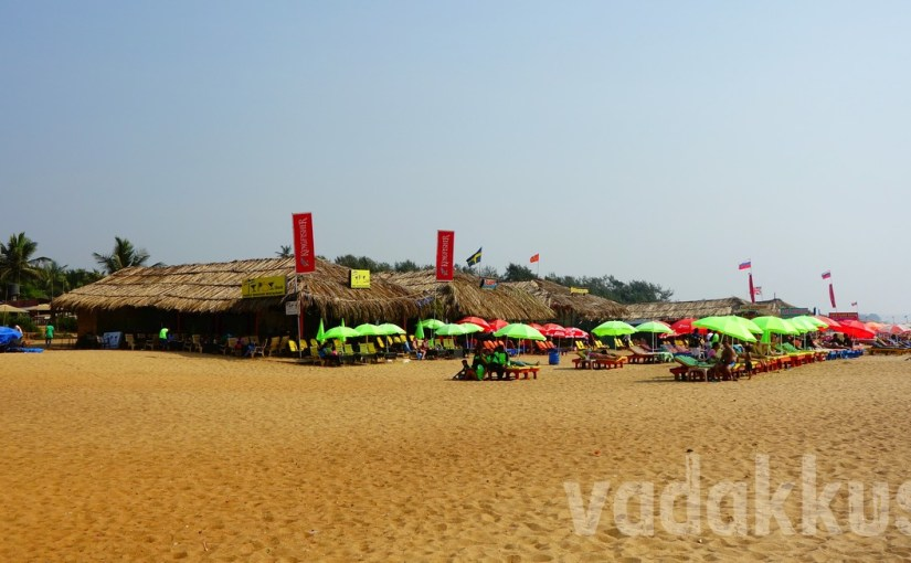 Beach Shacks on Calangute Beach, Goa
