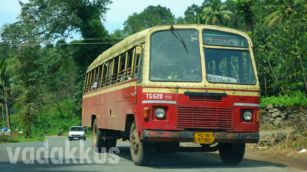 Kerala KSRTC old ordinary bus TS620 on MC Road