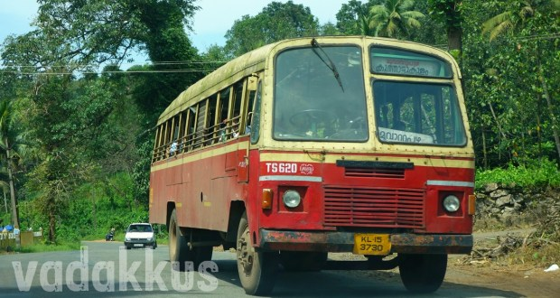 Kerala KSRTC old ordinary bus TS620 on MC Road