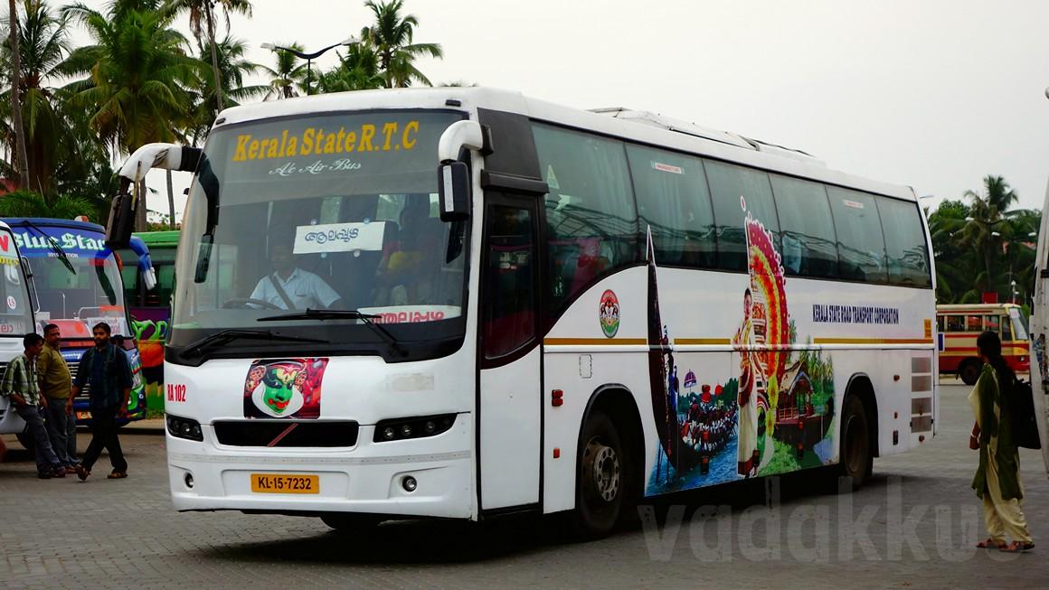 kerala ksrtc�s old volvo b7r ra102 in new kerala tourism