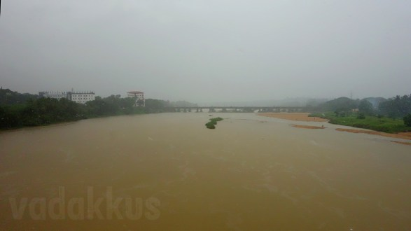 The Full-Flowing Bharathapuzha River During the Monsoon