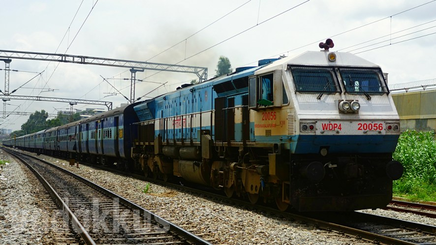 "A ""Real"" Train: SHF KJM's WDP4 #20056 Heads the Prasanti Express"